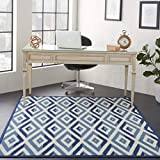 Marca de Amazon - Movian Mesta, alfombra rectangular, 221 de largo x 160 cm de ancho (diseño geométrico)