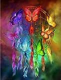 HQHff Atrapasueños Mariposa Colorida,Puzzles Adultos 1000 Piezas 75x50cm,3D Puzzles de Madera Adultos Regalo de Juguete Educativo para niños