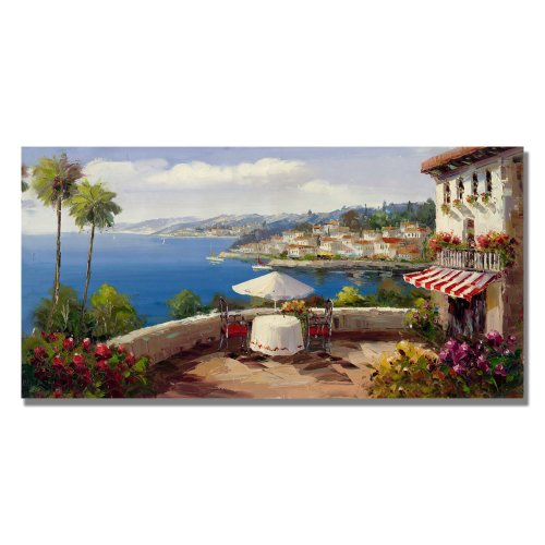 Italian Afterernoon by Master's Art, 12X24-Inch Canvas Wall Art