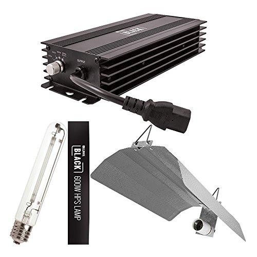 LUMii Negro Digital lastre/Bombilla/Reflector–Sombra 600W + Super lúmenes Boost 660W High Street Hydro