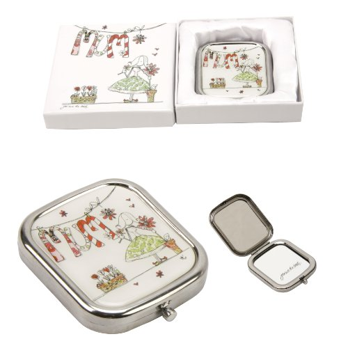 Tracey Russell Mum Metal & Epoxy Big Wishes Design Compact Mirror in Gift Box by Tracey Russell
