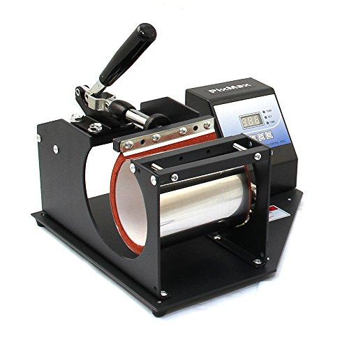 PixMax - Macchina per Stampa a Sublimazione, per Tazze, Colore: Nero