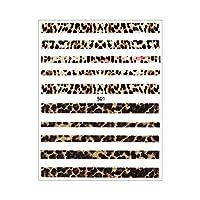 iro gel (イロジェル) ネイルシール[貼るタイプ] レオパードラインシール (496/501) タイプ2