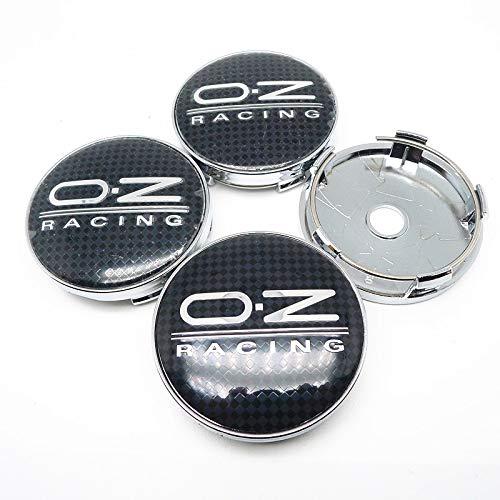 Cubierta para cubo de rueda, 4 unidades, 60 mm, compatible con OZ Racing Car Wheel Center Hub Caps Badge Logo Car Decor Accesorios Center Cover (Nombre del color: A)