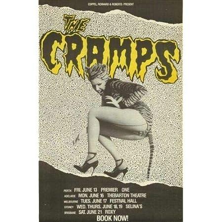 THE CRAMPS Poster Wall Plaque Dec Metal Tin Sign