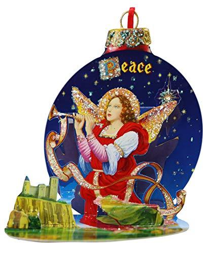 Christmas Pop Up Ball Card; Hanging Xmas Tree Decoration Glitter Ornament Greeting Idea