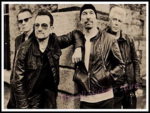 Cuadros Murales Lienzo Póster,Póster De U2, Decoración De Muebles para El Hogar De Irlanda, Póster Gratis, Póster De Música Acid Rock, Dibujo, Núcleo, Pared De Coche,50X70Cm Sin Marco,Ph-377