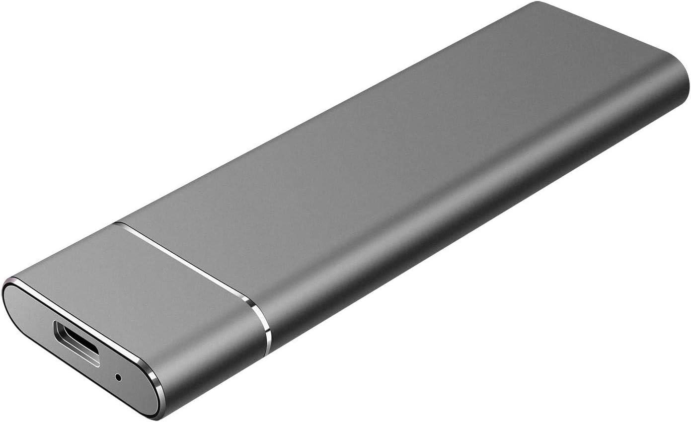 External Hard Drive 1T 2T, Slim Aluminum USB3.0 HDD Storage for PC, Mac, Desktop, MacBook, Chromebook, Xbox 360(2TB Black)