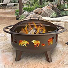 Landmann 23875 Firedance Bear & Paw Fire Pit, Metallic Brown
