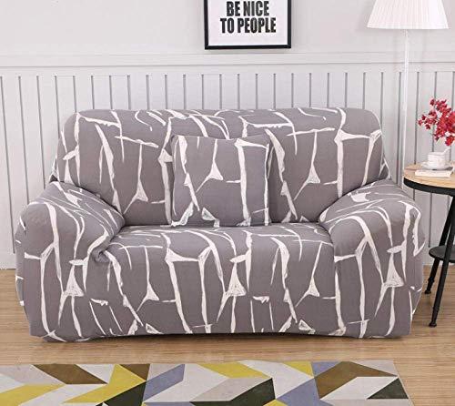 ZGQ Sofabezug Stretch L Form Moderne Ecksofa Überzüge Sofa schonbezug 1 2 3 4 sitzer,für Sofa mit recliners, 1/2/3/4 Seater Sofa Slipcover Stretch Stilmöbel Abdeckung,Gray,2 Seater, 57-72 inch