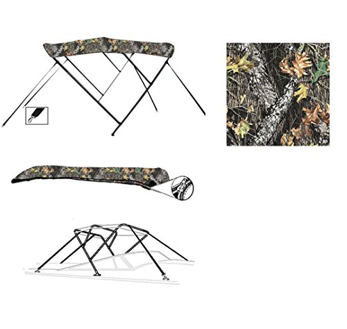 Lowest Prices! SBU-CV 8 oz 3 Bow Camouflage Mossy Oak Break UP CAMO Boat Bimini TOP Sunshade for KEN...