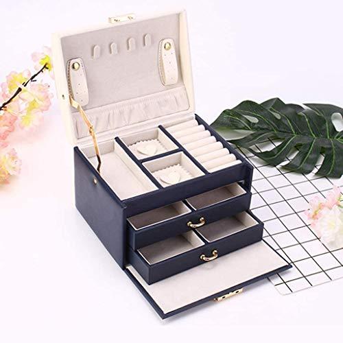 SSHA Joyero Embalaje de Regalo Jewelry Box Organizer con Caja de joyería de Viajes pequeño, Collares Pendientes Funda de Almacenamiento Organizador de Joyas (Color : B)