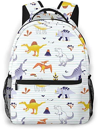chocolate conejito con cinta rosa básica mochila portátil de viaje mochila escuela de moda dinosaurios bebé
