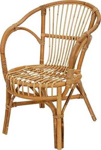 Klassischer Flecht-Sessel im skandinavischem Stil/Korb-Stuhl aus Natur-Rattan (Ungeschält Natur)