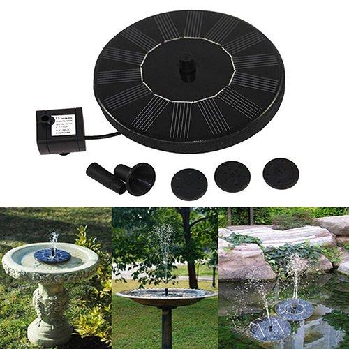 Denret3rgu Solar Power Birdbath Water Floating Fountain Pump Pool Garden Outdoor Decor
