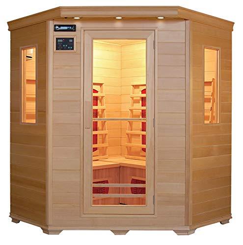 XXL Luxus LED Infrarotsauna Infrarotkabine-Wärmekabine Sauna+ Radio USB MP3
