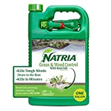 Natria 100532524 Grass & Weed Control with Root Kill Herbicide Weed Killer, Ready-to-Use, 1-Gallon, Yellow