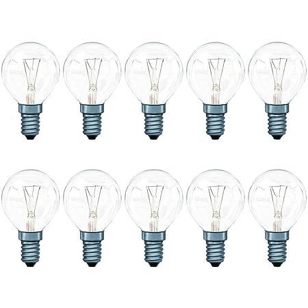 Lot de 10 ampoules à incandescence sphériques P45 Blanc chaud 2700 K 40 W E14 40 W