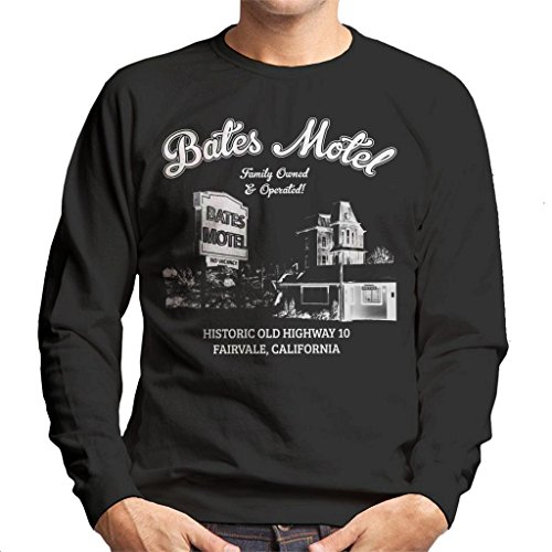 Cloud City 7 Psycho Bates Motel Family Owned and Operated Men's Sweatshirt