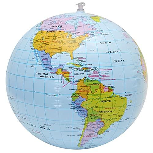 WSF-CARTE, 1pc 30cm Globe Globe World Earth Ocean Carte Ball Géographie Educative Plage Ballon Ballon Enfants Jouet Accueil Decoration Décoration Plage Ballon