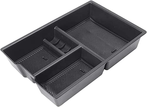 2021 Mallofusa Compatible for online sale Dodge Ram 1500 2009-2017 Car online Center Console Organizer Armrest Storage Box Tray Black online