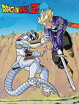 Great Eastern Entertainment 57657 Dragon Ball Z - Mecha Frieza & Trunks Throw Blanket One Size Muti/Colored