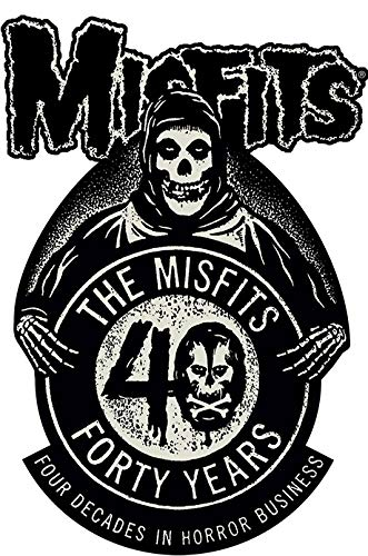 "Misfits 40th Anniversary, Officially Licensed, Iron-On / Sew-On, Embroidered PATCH - 3"" x 4.5"""