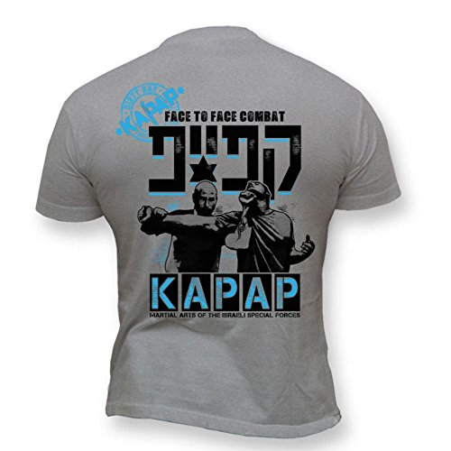 Dirty Ray Artes Marciales Kapap Israeli Combat System Camiseta Hombre T-Shirt K21 (L)