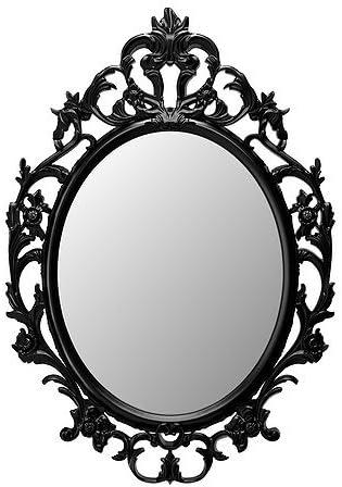 Ikea Specchio Ovale Nero 18210 51123 1220 Amazon It Casa E Cucina