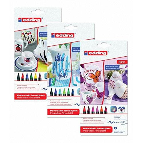 Pinselstift Set Porzellan 1 bis 4 mm Alle 3 Sortierungen