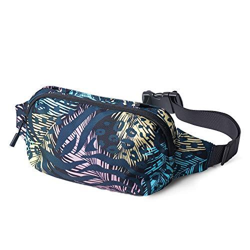 FREETOO Gürteltasche Bauchtasche Wasserdicht Hüfttaschen mit Reißverschluss für Reise Fahrrad Camping Wandern und Fitness für Damen und Herren (Pflanze)