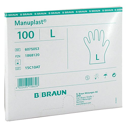 MANUPLAST Einmal Handschuhe groß hell 100 St