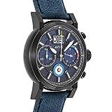 avi-8 men's hawker hurricane 42mm blue leather band quartz watch av-4062-03