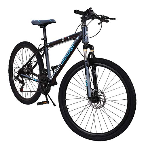 Adult Mountain Bike, Unisex 26in Outdoor Bicycle with 21-Speed, Mountain Bike for Men and Women Outdoor Racing Cycling【U.S. Shipping】