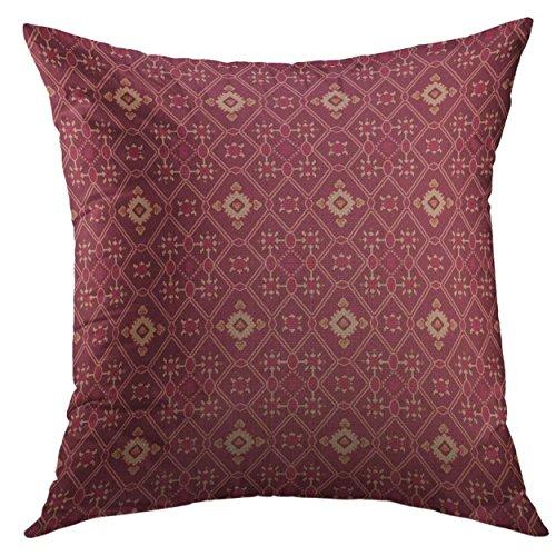 Funda de almohada decorativa para sofá, cama, decoración del hogar, funda de almohada personalizable, personalizable Ikat para boda, 45,7 x 45,7 cm
