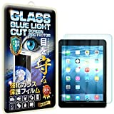 【RISE】【ブルーライトカットガラス】iPad 2/ iPad 3/ iPad 4 フィルム iPad 2/ iPad 3/ iPad 4 ガラスフィルム 強化ガラス液晶保護保護フィルム 国産旭ガラス採用 ブルーライト90%カット 極薄0.33mガラス 表面硬度9H 2.5Dラウンドエッジ 指紋軽減 防汚コーティング ブルーライトカットガラス