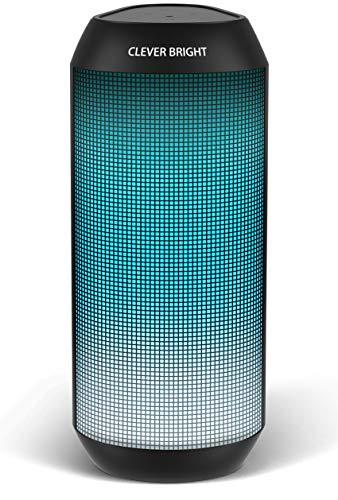 Cassa Bluetooth Altoparlante Portatili, Hi-Fi Bassi Profondi一LED Luce Beat Speaker Wireless, Chiamata Vivavoce Microfono, Tecnologia TWS, AUX