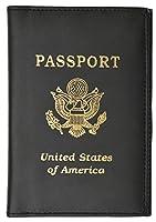 トラベル パスポート オーガナイザー ホルダー クレジットカード ケース プロテクター カバー ウォレット, 旅行財布, ブラック, 標準