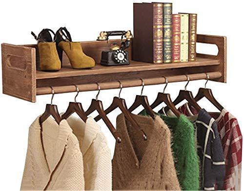 Kleiderständer aus Holz, Vintage Wand aus Holz Display Stand Regal Kleiderständer Kleiderbügel für Kinderbekleidungsgeschäft (Größe: 120CM)
