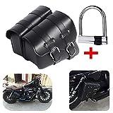 1 paio di borse laterali da motocicletta laterali in pelle PU per motociclisti