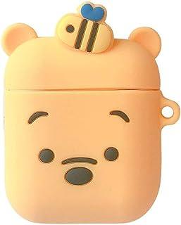 Lioncorek AirPods Pro ケース エアポッド プロ カバー 保護ケース 2019年 耐衝撃 紛失防止 AirPods Proに適用 防塵 AirPods3 第3世代 くまのプーさん 子豚 充電ケース 可愛い 萌え萌え カラビナ 創意 オシャレ シリコーン キーホルダー 滑り止め キズ防止 人気(イエロー)