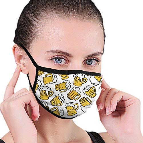 Cartoon Bier Glas Männer Frauen Atmungsaktiv Komfortable Gesichtsschutzhülle Mit Gummiband Für die persönliche Gesundheit Verschiedene Verwendung