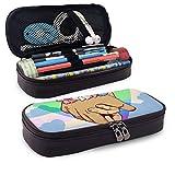 Estuche para bolígrafos de gran capacidad para guardar artículos de papelería de estudiantes duraderos con cremallera y bolsa de suministros de oficina para niños y niñas, colorido LGBT Pride Manos en forma de corazón
