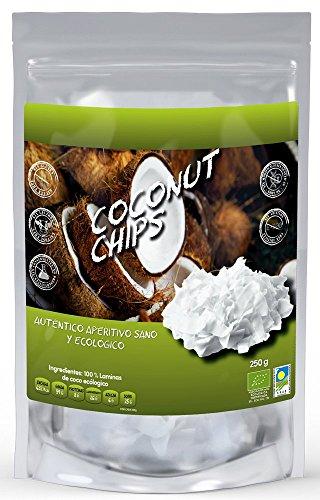 Naturseed - Bio-Kokos-Chips 250gr - Ohne Zuckerzusatz, 100% natürlich, ohne Zusatzstoffe oder Konservierungsstoffe.