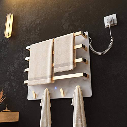 N-B Toallero de calefacción eléctrica para baño inteligente, con iluminación de lámpara de inducción, esterilización ultravioleta y diseño de temperatura constante, control remoto para teléfono móvil.