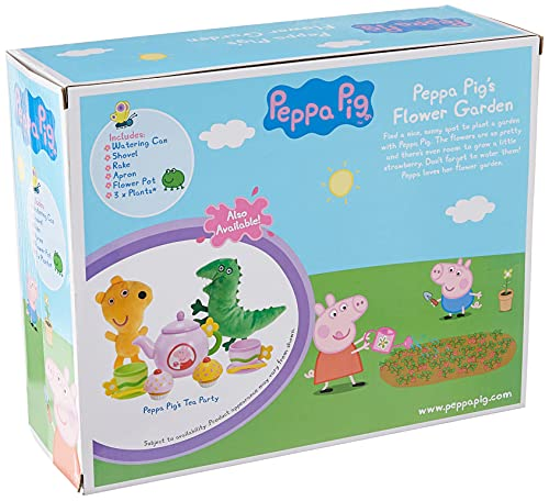 Peppa Pig Flower Garden Roleplay Set, Comes with Flower Pot, Shovel, Rake, Apron, Watering Can, and 3 Pretend Plants - Includes Sounds and Phrases from