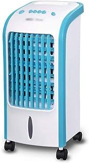 Aire acondicionado portátil, 3 velocidades 4L Tanque de agua Aire limpio Aire acondicionado Ventilador Hogar Silencioso Humidificador Enfriador de aire Evaporación de agua móvil, azul ( Color : Blue )