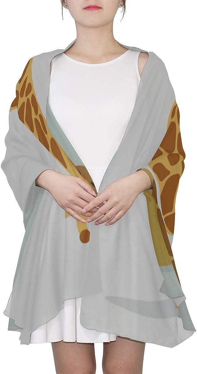 Hair Scarfs For Women Lovely Cute Outdoor Travel Giraffe Shawl Scarf Lightweight Shawls And Wraps Lightweight Print Scarves Fashion Scarf Lightweight Scarf For Men Lightweight
