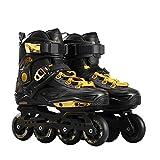 Outdoor Sport - Patines en línea para adultos de carbono - Patines en línea profesionales - Patines de ruedas - Cómodos zapatos - Speed Skating - Ldeales para principiantes para mujeres y hombres