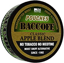 BaccOff, Classic Apple Blend Pouches, Premium Tobacco Free, Nicotine Free Snuff Alternative (5 Cans)